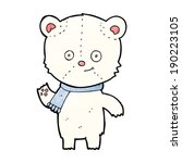 cartoon polar bear waving | Shutterstock .eps vector #190223105