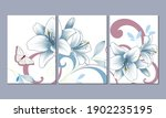 a set of 3 canvases for wall... | Shutterstock .eps vector #1902235195