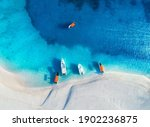 Aerial View Of The Yachts And...