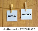 Theory And Practice Symbol....