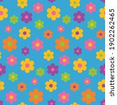 nouveau hippie flower power ... | Shutterstock .eps vector #1902262465
