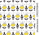 cute floral seamless pattern in ...   Shutterstock .eps vector #1902290845