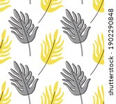 palm leaves seamless pattern in ...   Shutterstock .eps vector #1902290848