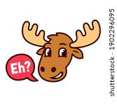 funny cartoon canadian moose...   Shutterstock .eps vector #1902296095