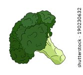 broccoli in vector | Shutterstock .eps vector #190230632