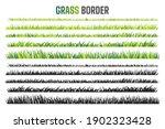 grassland border vector pattern ... | Shutterstock .eps vector #1902323428