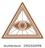 seeing eye with lines in... | Shutterstock .eps vector #1902326998