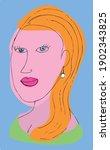 colorful surrealist vector... | Shutterstock .eps vector #1902343825