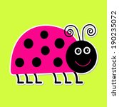 cute cartoon pink lady bug....   Shutterstock . vector #190235072