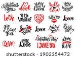 set of handwritten lettering... | Shutterstock .eps vector #1902354472