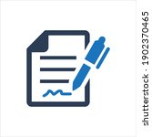 contract agreement icon on... | Shutterstock .eps vector #1902370465