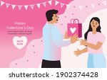 couples give gifts to each...   Shutterstock .eps vector #1902374428