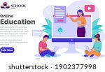 webinar online education social ...   Shutterstock .eps vector #1902377998