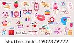valentine's day stickers...   Shutterstock .eps vector #1902379222