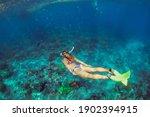 Active Teenage Girl Jump  Dive...