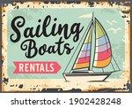 sailing boats rentals retro... | Shutterstock .eps vector #1902428248