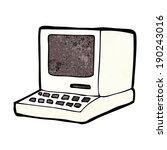 cartoon old computer | Shutterstock .eps vector #190243016