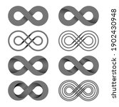 infinity shape unlimited symbol ...   Shutterstock .eps vector #1902430948