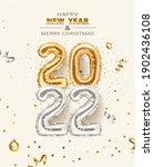 2022 golden decoration holiday... | Shutterstock .eps vector #1902436108