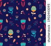 seamless spring floral pattern. ... | Shutterstock .eps vector #1902443095