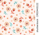 seamless spring floral pattern. ... | Shutterstock .eps vector #1902443122
