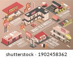 motel color flowchart with... | Shutterstock .eps vector #1902458362