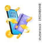 cash back  online money saving...   Shutterstock .eps vector #1902480448