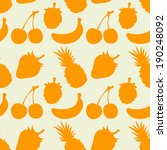 seamless pattern with fruits... | Shutterstock .eps vector #190248092