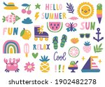 set of cute summer icons ... | Shutterstock .eps vector #1902482278