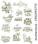 summer themed hand lettering...   Shutterstock .eps vector #1902492775