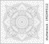 mandala circle pattern....   Shutterstock .eps vector #1902495112