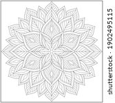 mandala circle pattern....   Shutterstock .eps vector #1902495115