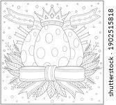 fantasy royal egg with king... | Shutterstock .eps vector #1902515818