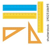 school instruments  rulers... | Shutterstock .eps vector #1902518695