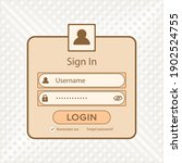 simple light brown form login...