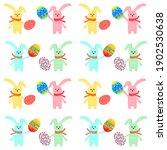 easter seamless pattern. easter ... | Shutterstock . vector #1902530638