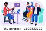 dark skinned man tells arab... | Shutterstock .eps vector #1902533122