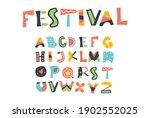 festival letter set  colorful...   Shutterstock .eps vector #1902552025
