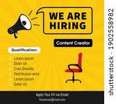 job vacancy template. we are... | Shutterstock .eps vector #1902558982