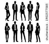 vector silhouettes of  men and... | Shutterstock .eps vector #1902577585