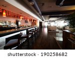 Stock photo beautiful brand new european restaurant in downtown 190258682