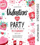 valentine's day party flyer... | Shutterstock .eps vector #1902589102
