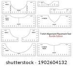 t shirt ruler vector mega... | Shutterstock .eps vector #1902604132