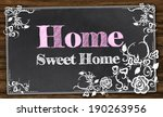home sweet home with vintage... | Shutterstock . vector #190263956