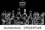 alcoholic cocktails sketch....   Shutterstock .eps vector #1902649168