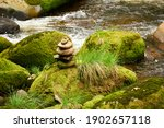 Stones Piled In Mounds On The...