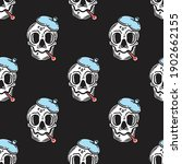 seamless pattern of skull with...   Shutterstock .eps vector #1902662155