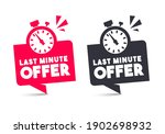 vector illustration last minute ... | Shutterstock .eps vector #1902698932