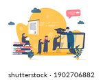 online education concept in... | Shutterstock .eps vector #1902706882