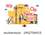 software testing concept in... | Shutterstock .eps vector #1902706915